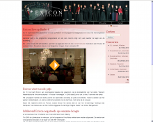 Exicon home page